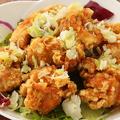 料理メニュー写真鶏の唐揚げ葱ソース (油淋鶏)
