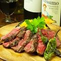 料理メニュー写真特選赤身肉和牛ランプ