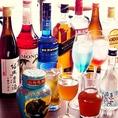 ビール、ウイスキー、カクテル、紹興酒、白酒、中国茶…様々な飲料でお楽しみ下さい。