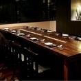テーブル席は可動式なので大宴会もできます