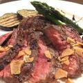 料理メニュー写真牛サガリのステーキと野菜のグリル