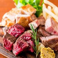 北海道産黒毛和牛や蝦夷鹿!肉も豊富