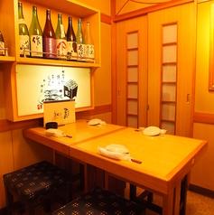 【4名様席】プライベートの飲み会ならココがおすすめ!美味し日本酒とお料理をお楽しみ下さい♪