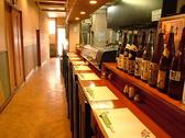 カウンターで揚げたて天ぷら、新鮮なお魚と1杯楽しむリピーターさんも多数!