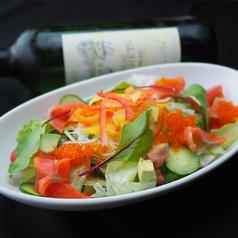 ぷちぷち♪とびことサーモンの和風ゆず胡椒サラダ