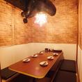 ちょっとした集まりや会合に使いやすい中人数用個室♪いろんなサイズの個室あります!
