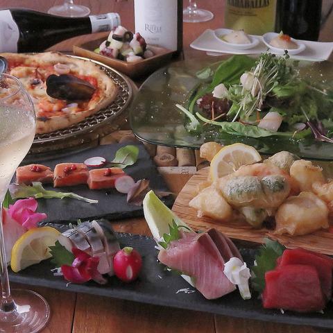 【忘新年会、歓送迎会に】《全6品》旬の海鮮を味わうVINDUSTRY満喫コース¥3000