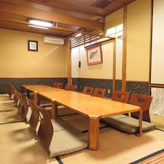 最大16名様までご利用いただけるお座敷席。