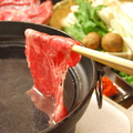 料理メニュー写真三田牛しゃぶしゃぶコース