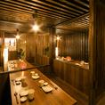 周りを気にせずご宴会をお楽しみ頂ける寛ぎ個室空間です。新横浜での飲み会に
