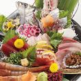新鮮なお魚料理を種類豊富に取り揃えております!豪華なお造り盛り合わせもございます♪