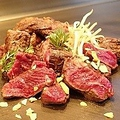 料理メニュー写真牛ヒレひも肉の一本焼き