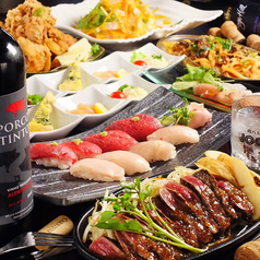 肉バルで肉寿司 ジョッキー 梅田店のコース写真