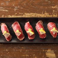 特選!炙り肉寿司食べ放題!話題の逸品がリーズナブルに