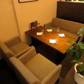 お仕事終わりの疲れた体を柔らかなソファーが包み込みます。ゆったりとした時間の流れる空間でお客様だけのプライベートな時間を♪