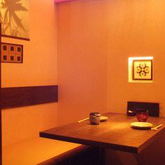 全てのテーブル席が区切られた個室空間なので周りの目も気になりません