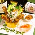 料理メニュー写真タイ式鳥の串焼きピーナッツソース(ガイ・サテ)