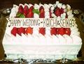 料理メニュー写真お祝い等でご利用頂ける、メッセージ付きホールケーキ