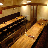 店内奥には最大30名様の完全個室席を完備。プロジェクターを利用したパーティにも対応可!結婚式の二次会やお仲間の送別会など各種ご宴会のご相談、お気軽にお問い合わせ下さいませ。※プロジェクター、モニター貸出可!