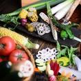 使用する食材はどれも旬や産地にこだわった厳選素材ばかり。素材本来の味を最大限に活かします!
