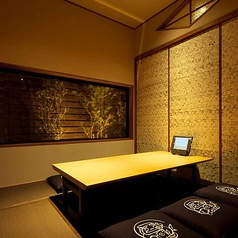 全席個室。プライベート空間の中での食事を楽しんでいただけます。