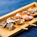 料理メニュー写真焼き魚串五種の盛合せ