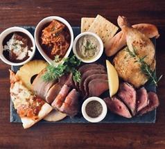 肉と牡蠣の写真