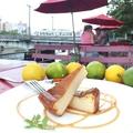 料理メニュー写真瀬戸田広島レモンと千代田の卵を使ったベイクドチーズケーキ