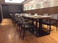 各テーブルはアレンジ可能なので、少人数~大人数までご対応いたします。