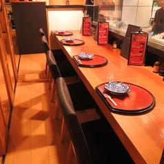 カウンターテーブルあり!お一人様やカップルにもご利用◎調理している風景をみながらごゆっくりとお過ごしください♪