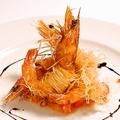 料理メニュー写真天使海老のカダイフ包み揚げ カレー風味
