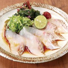 宮崎県産 真鯛の刺身/さっぱり真鯛ぽん酢