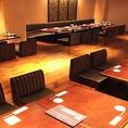 【3階の20名様用の掘座敷個室】飲み会にぴったりの落ち着きのある大人な雰囲気の席です。のんびりとお過ごしいただけます。栄で居酒屋をお探しでしたら是非、新九 栄本店をご利用くださいませ!