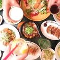 サイドメニューも充実!290円~小皿料理ばかりなのでテーブルの上にたくさんの種類のお料理で彩ろう!