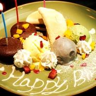 誕生日記念日に…デザートプレートプレゼント♪