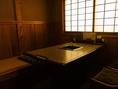 和の雰囲気漂うお席多数ございます。