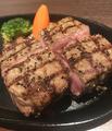 料理メニュー写真厚切りアンガス牛ステーキ250g
