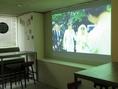 貸切特典★3Fの貸切会場にはスクリーンを完備!思い出のシーンをサプライズで流しませんか?♪