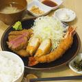 料理メニュー写真ミックスフライ定食⇒580円