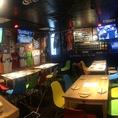 【町田 居酒屋 町田スタジアムの貸切15名テーブル席】壁には各球団のユニフォームを飾ってます♪野球好きにもたまらない♪町田/野球/居酒屋/個室/安いなら◎