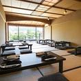 《20名以上で貸切可》鴨川を望める眺望席は20名様より貸切OK。情緒あふれる雰囲気で京料理をご堪能頂けます。