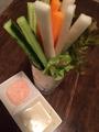 料理メニュー写真スティックサラダ~2種のソース~