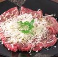 料理メニュー写真黒毛和牛のカルパッチョ