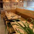 開放的なテーブル席は人数に合せてプライベートから宴会まで心強い