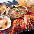 料理メニュー写真おまかせ浜焼き満載セット