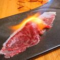 これが当店の名物!炙り肉寿司!是非一度ご賞味下さい。