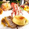 料理メニュー写真ブリュレフレンチトーストとリコッタチーズパンケーキ ハーフ&ハーフ~人気のBLOTLANDのバゲットで~