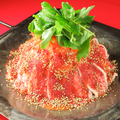 料理メニュー写真<辛味噌鉄板>豚と香味野菜