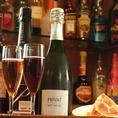 スパークリングやシャンパンなど、泡系のお酒も人気!乾杯にピッタリですね。
