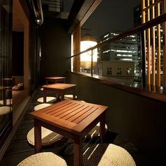 テラス席「月見席」のある3階。